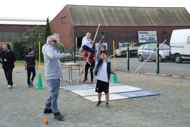 apprentissage au lance du javelot