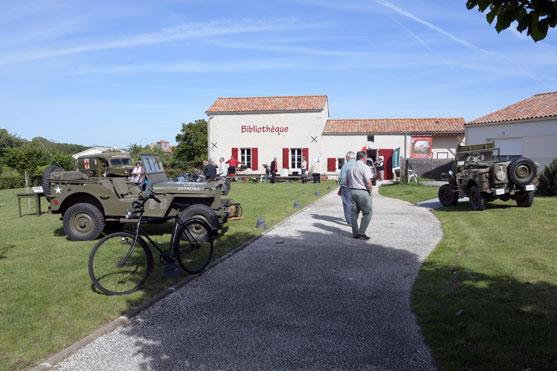c est a la bibliotheque de Saint Michel le Cloucq que l ont decouvre l exposition sur les ardennais pendant la derniere guerre