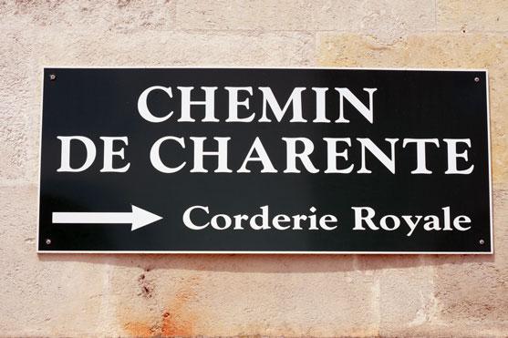 panneau indiquant la direction de la corderie royale de rochefort
