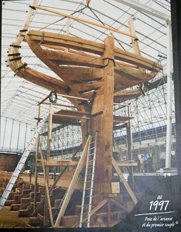 la construction de l hermione au fil des annes