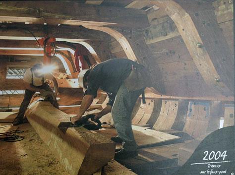 la construction de l hermione au fil des annees