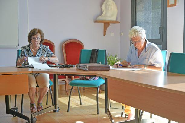 madame noelle boutholeau secretaire generale du cdvmjsea et monsieur jean florence vice president du cdvmjsea