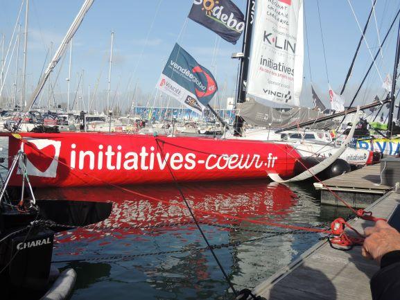 un bateau participant au vendee globe 2020